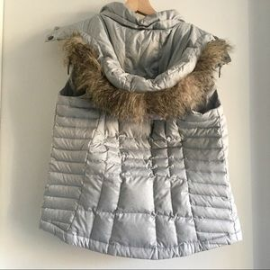 Eddie Bauer Puffer Vest with Removable Fur Hood